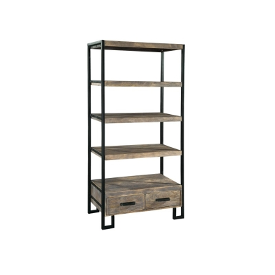 Hekman Office at Home Double Drawer Open Shelving Unit