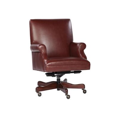 Hekman Merlot Leather Executive Chair