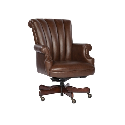 Hekman Coffee Leather Executive Chair