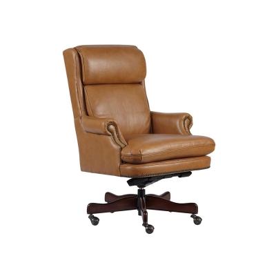 Hekman Tan Leather Executive Chair