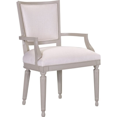 Hickory Chair Velours Dining Arm Chair