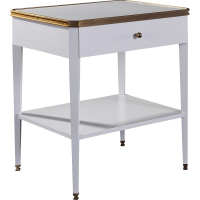Hickory Chair Austell Side Table with Drawer