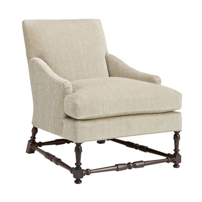 Hickory Chair Maud Chair with Turned Stretchers