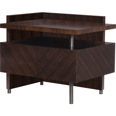 Hickory Chair Stasis Santos Rosewood Left Side Table