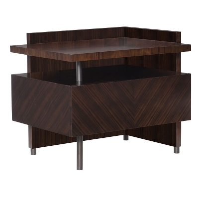 Hickory Chair Stasis Santos Rosewood Right Side Table