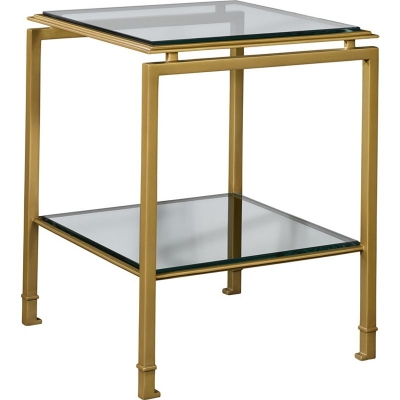 Hickory Chair Montpelier Accent Table Glass Top