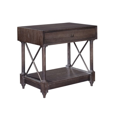 Hickory Chair La Paz Wood Drawer Front Side Table