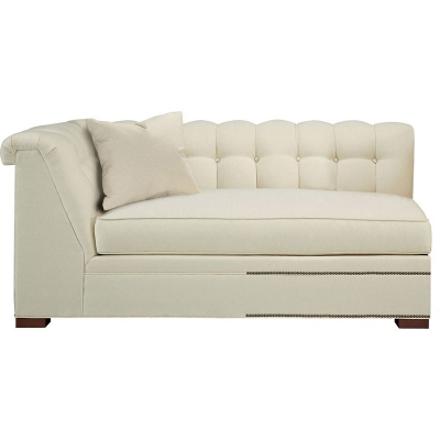 Hickory Chair Kent Made To Measure Tufted Left Arm Facing Corner Armless Sofa