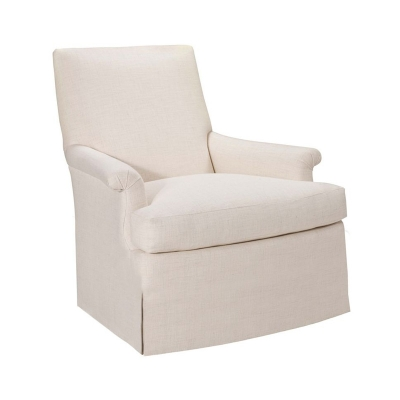 Hickory Chair Virginia Skirted Swivel Chair