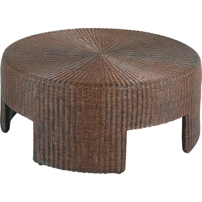 Hickory Chair 5581 10 Archive 48 Inch Wicker Round Coffee Table Discount Furniture At Hickory