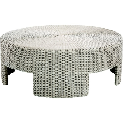 Hickory Chair 48 inch Wicker Round Coffee Table