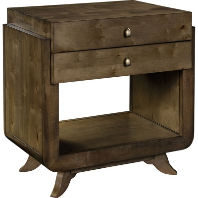 Hickory Chair Dove Side Table Night Stand