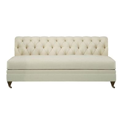Hickory Chair Tufted Armless Sofa