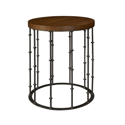 Hickory Chair Astor Side Table with Wood Top