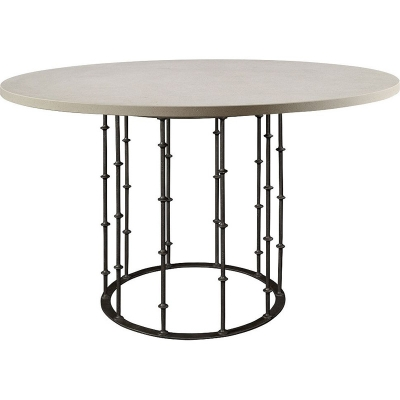 Hickory Chair Astor Center Table with Stone Top