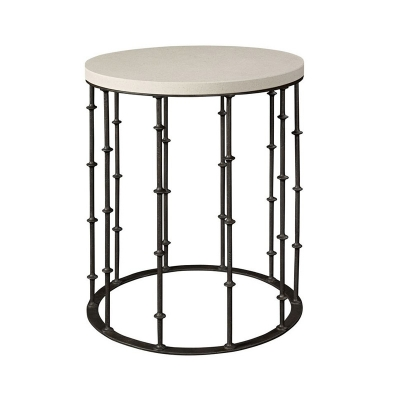 Hickory Chair Astor Side Table with Stone Top