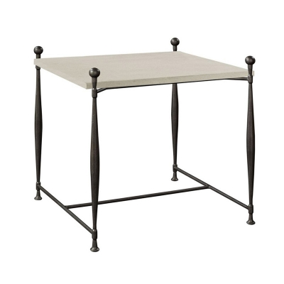 Hickory Chair Ionia Side Table with Square Stone Top