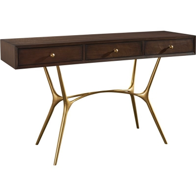 Hickory Chair Agnes Console with Wood Drawer Fronts