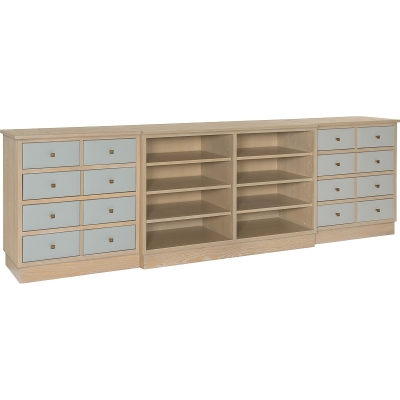 Hickory Chair Claudette Credenza with Left and Right Drawer Piers