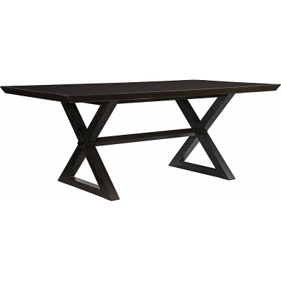 Hickory Chair Suit Dining Table Base 96 inch