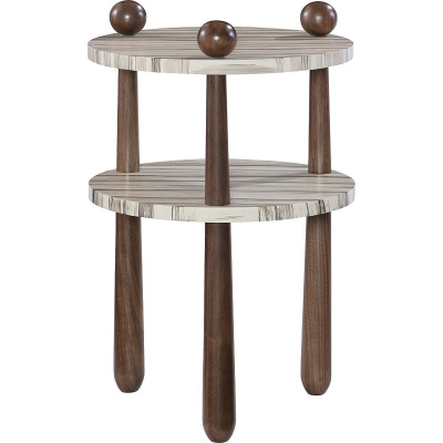 Hickory Chair Chad Maple and Cherry Side Table