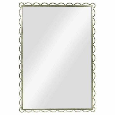 Hickory Chair Scallop Mirror Silver Leaf