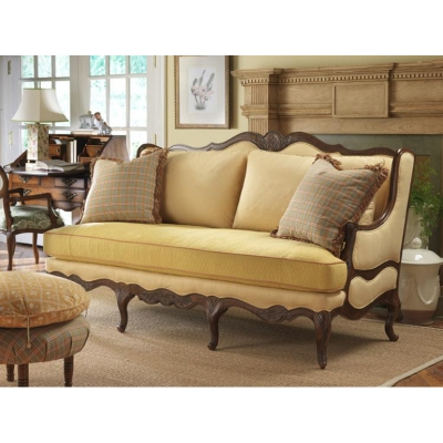 Highland house 4106 77 fl french country regence sofa for Affordable furniture florida