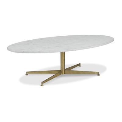 Highland House Montauk Stone Top Oval Cocktail Table