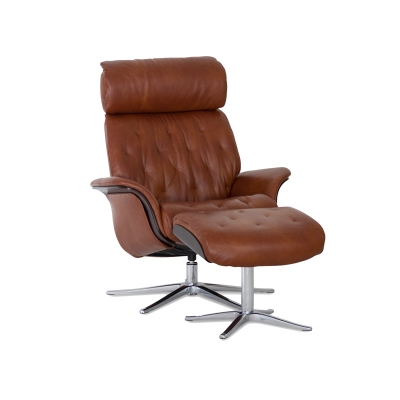 IMG Leather Recliner and Ottoman