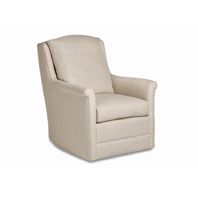 Jessica Charles Swivel Rocker with Modern Rolled Arm