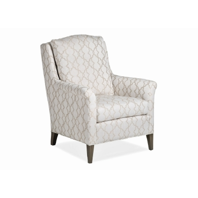 Jessica Charles Chair with Modern Rolled Arm