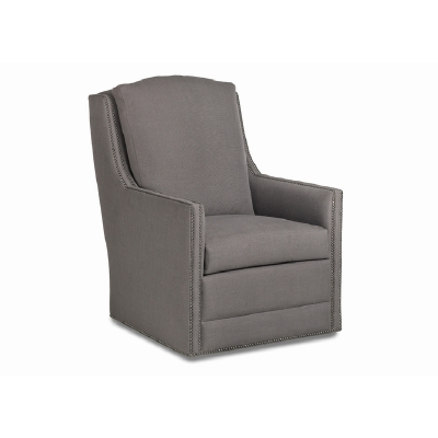 Jessica Charles Swivel Chair with Track Arm
