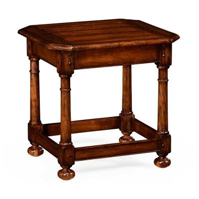 Jonathan Charles Octagonal Dark Walnut Side Table