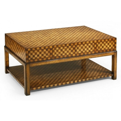 Jonathan Charles Checkerboard Cocktail Table