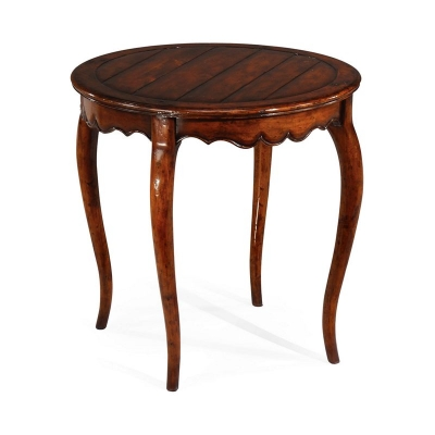 Jonathan Charles Round French Walnut Country Side Table