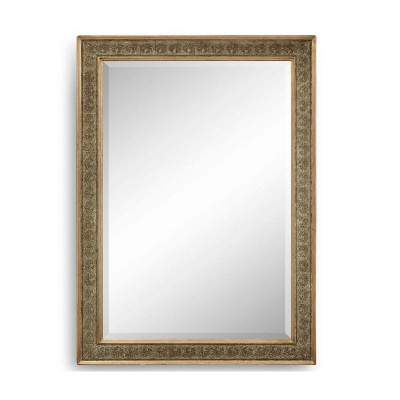 Jonathan Charles Rectangular Mirror with Eglomise Gilt Borders