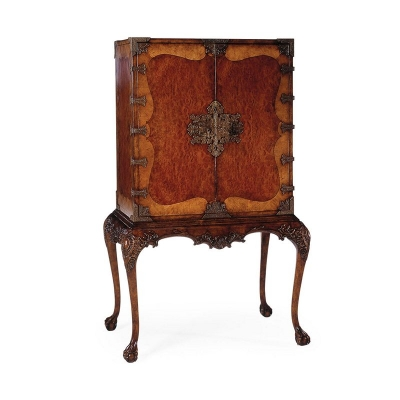 Jonathan Charles Queen Anne Writing Cabinet with Fine Brass Hardware