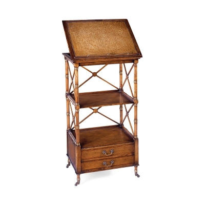 Jonathan Charles Hinged Reading Library Stand Walnut