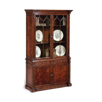 Jonathan Charles George III Gothic Mahogany Glazed Cabinet