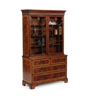 Jonathan Charles Late Regency Mahogany Glazed Bookcase