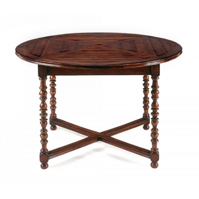 Jonathan Charles 64 inch Round Parquet Breakfast Table
