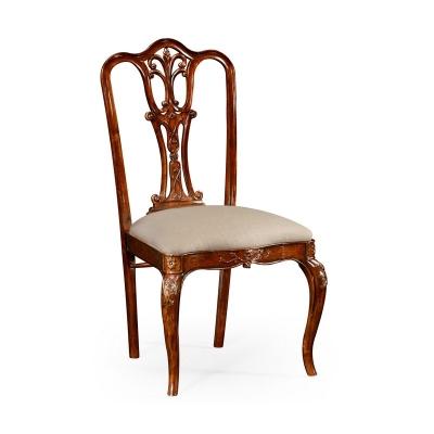Jonathan Charles Mahogany 18th Century Style Dining Side Chair