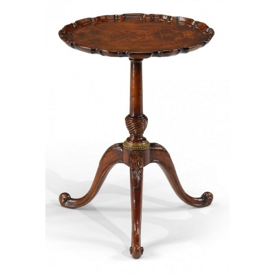 Jonathan Charles Piecrust Lamp Table 21.5 inch