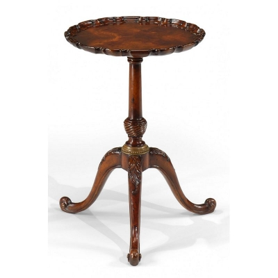 Jonathan Charles Mahogany inch Piecrust inch Lamp Table 19 inch