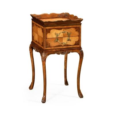 Jonathan Charles Tray Lamp Table Walnut and Satinwood