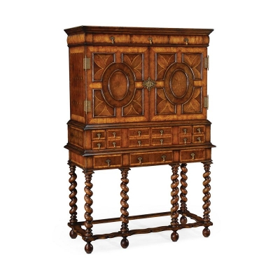 Jonathan Charles William and Mary Oyster Drinks Cabinet On Stand