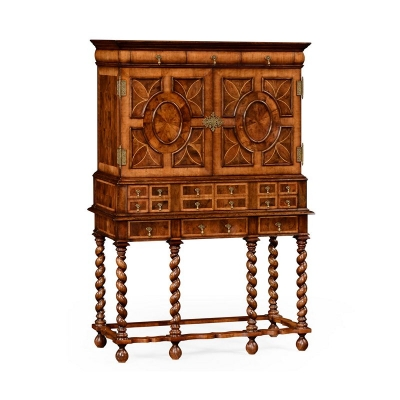 Jonathan Charles William and Mary Oyster TV Cabinet On Stand