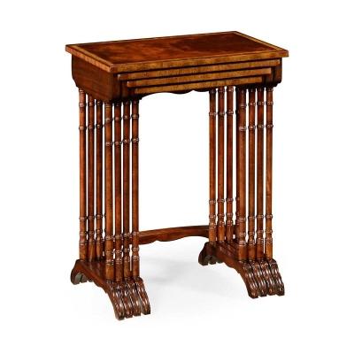 Jonathan Charles Regency Mahogany Nest of Tables