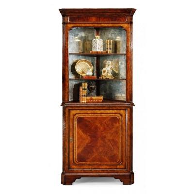 Jonathan Charles Mahogany Open Corner Cabinet with Cupboard