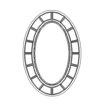 Jonathan Charles Oval Antique Gold Mirror Eglomise